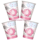 Baby Shower Partybecher, pink