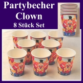 Partybecher Clown
