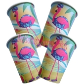 Flamingo Partybecher Hawaii-Party