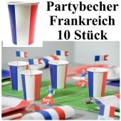Partybecher Frankreich, 10 Stück