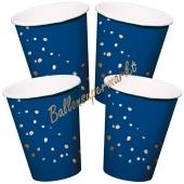 Elegant True Blue Partybecher, 8 Stück