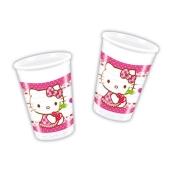 Hello Kitty Partybecher zum Kindergeburtstag