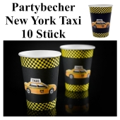Partybecher New York Taxi, Partydekoration USA
