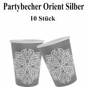 Partybecher Orient Silber, 1001 Nacht Deko