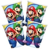 Super Mario Partybecher zum Kindergeburtstag