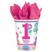 Partybecher zum 1. Geburtstag, Maedchen, Sweet Birthday Girl