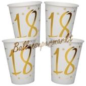 Partybecher zum 18. Geburtstag, 10 Stück