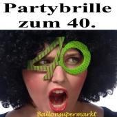 Party-Brille zum 40. Geburtstag