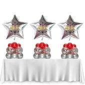 Tischdeko Silvesterparty 3 Stück Ballondeko 2021