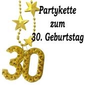 Goldene Partykette zum 30. Geburtstag