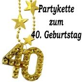 Goldene Partykette zum 40. Geburtstag