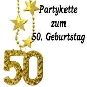 Goldene Partykette zum 50. Geburtstag