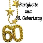 Goldene Partykette zum 60. Geburtstag