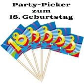 Party Picker Zahl 18, Dekoration zum Geburtstag