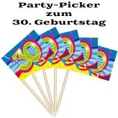 Party Picker Zahl 30, Dekoration zum Geburtstag
