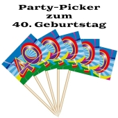 Party Picker Zahl 40, Dekoration zum Geburtstag
