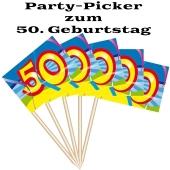 Party Picker Zahl 50, Dekoration zum Geburtstag