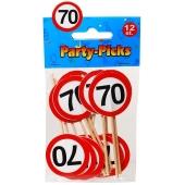 Party Picker Zahl 70, Verkehrsschilder, Dekoration zum Geburtstag