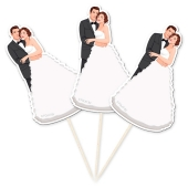 Partypicker Brautpaar, 10 Stück