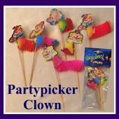Partypicker Clown, Picker zu Karneval, Fasching, Kinderkarneval und Kindergeburtstag, stimmungsvolle Tischdekoration