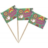 Party-Picker Flower Power, Tischdekoration Hippie-Mottoparty
