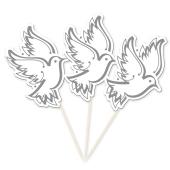 Partypicker Tauben, 10 Stück