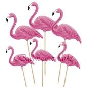Deko-Picker Flamingo, 6 Stück