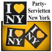 Servietten New York, Partydekoration USA