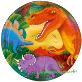 Partyteller Dinosaurier, metallic