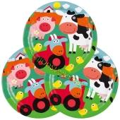 Farm Fun Partyteller, 8 Stück