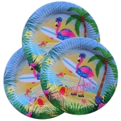 Flamingo Partyteller Hawaii-Party