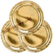 Partyteller Gold, 6 Stück