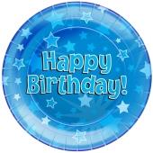 Happy Birthday Blau Partyteller zum Geburtstag, Kindergeburtstag