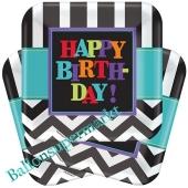 Chevron Happy Birthday Partyteller zum Geburtstag, Kindergeburtstag