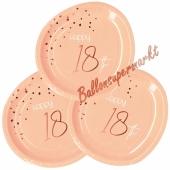Elegant Lush Blush 18 Partyteller zum 18. Geburtstag