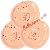 Elegant Lush Blush 30 Partyteller zum 30. Geburtstag