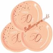 Elegant Lush Blush 50 Partyteller zum 50. Geburtstag