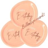 Elegant Lush Blush Happy Birthday Partyteller zum Geburtstag, Kindergeburtstag