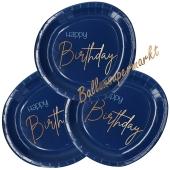 Elegant True Blue Happy Birthday Partyteller zum Geburtstag, Kindergeburtstag