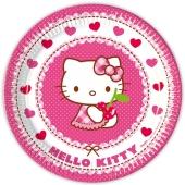 Hello Kitty Partyteller zum Kindergeburtstag