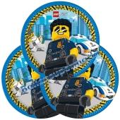 Partyteller LEGO City zum Kindergeburtstag, 8 Stück