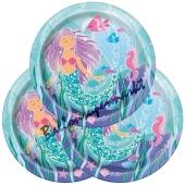 Meerjungfrau Partyteller, 8 Stück