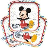 Partyteller Mickey Awesome Mouse zum Kindergeburtstag, 4 Stück