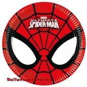 Ultimate Spider-Man Mini-Partyteller zum Kindergeburtstag