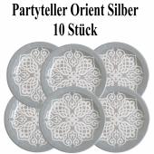 Partyteller Orient Silber, 1001 Nacht Deko