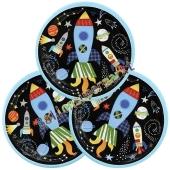 Weltraum Partyteller, Outer Space, 8 Stück