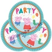 Partyteller Peppa Pig zum Peppa Wutz Kindergeburtstag