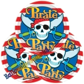 Pirate Party Partyteller, 8 Stück