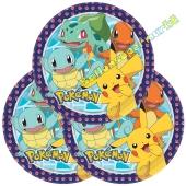 Partyteller Pokémon zum Kindergeburtstag, 8 Stück
