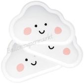 Partyteller Wolke, Weiß, Formteller